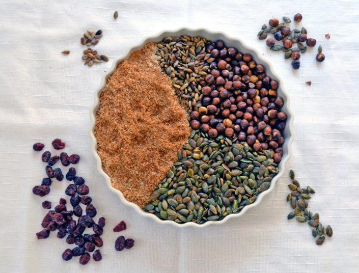 Müsli Rezept für ein Müsli aus übriggebliebenden Backzutaten
