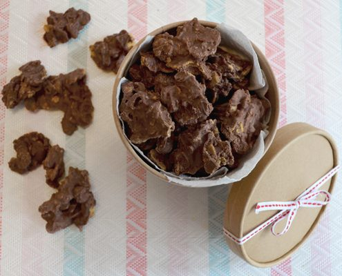 Choco Crossies selber machen aus Schokoladenresten