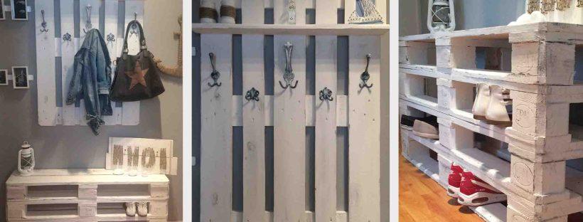 palettenm bel f r den flur schnell selber machen. Black Bedroom Furniture Sets. Home Design Ideas