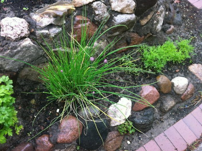 Kräuterspirale selber bauen aus Feldsteinen - Trockenbauprinzip