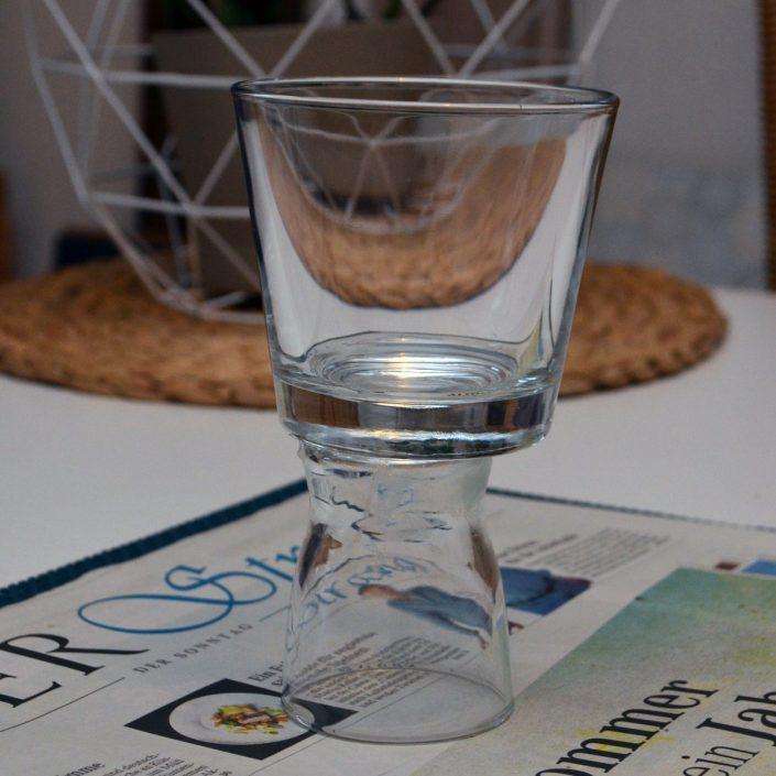 Teelicht in matt und metallic - Votivlicht aus alten Gläsern selber machen