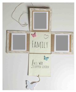 Box mit Fotos zum aufhängen