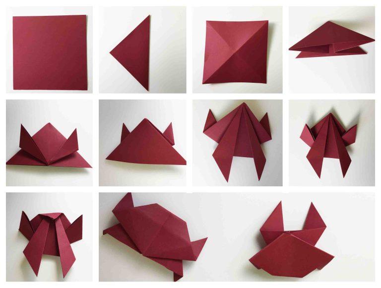Origami Meerestiere Krebs Anleitung zum falten
