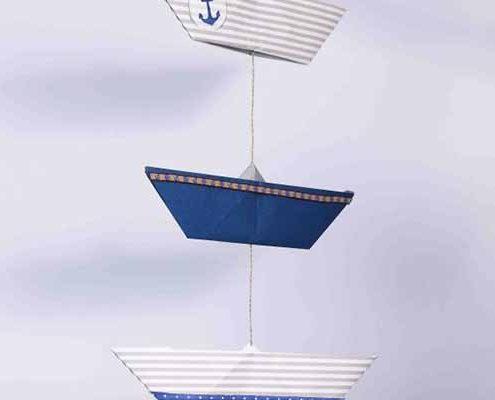 Origami Pappbootvorlage Anleitung zum falten