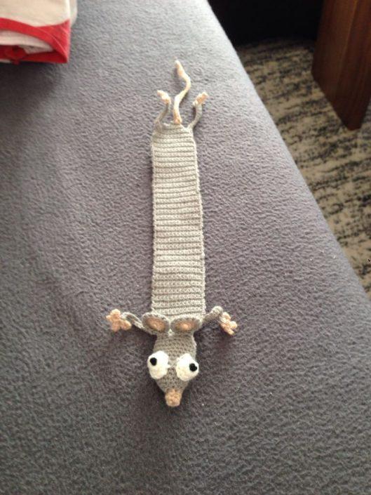 Lesezeichen Ratte Amigurumi
