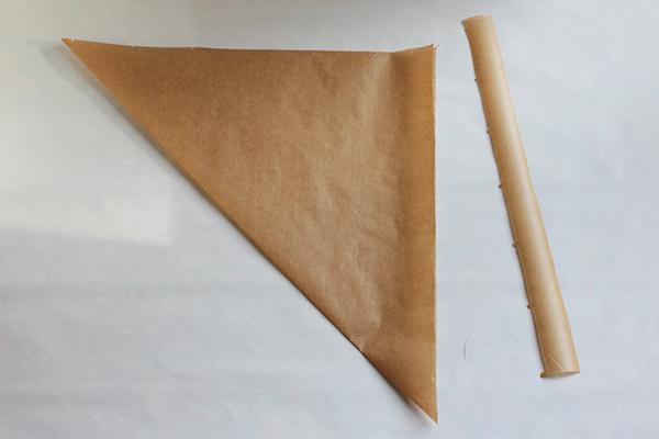 Backpapier zurgeschnitten